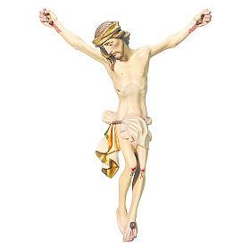Corpo di Cristo legno dipinto drappo colore bianco s1