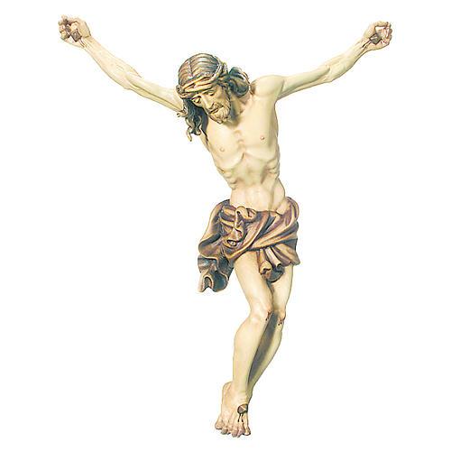 Corps du Christ drap nuances marron bois peint 1