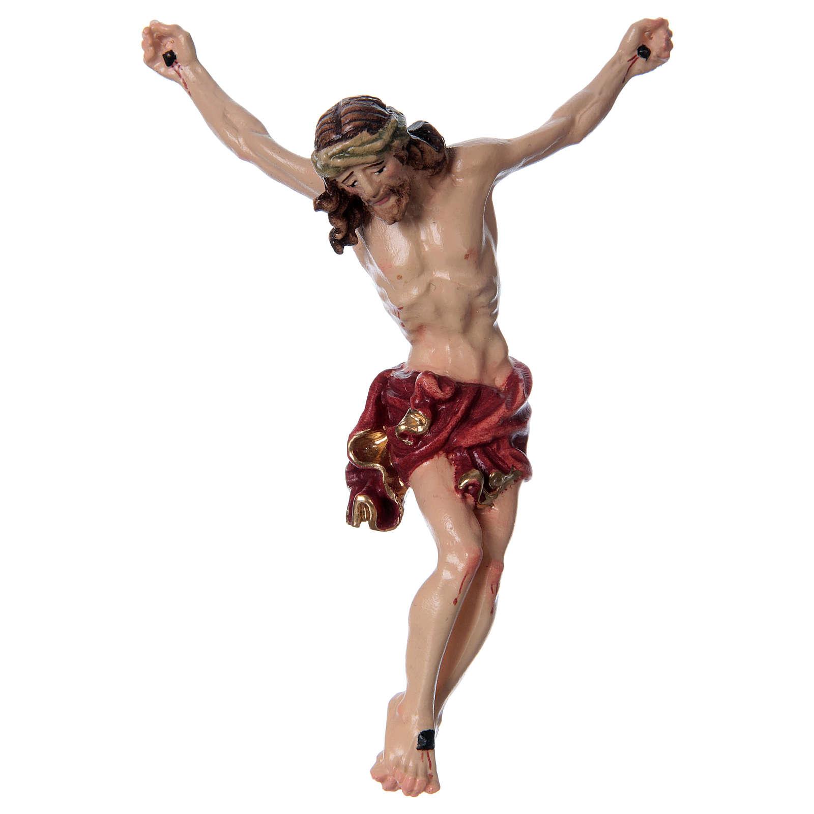 Corpo di Cristo con drappo rosso legno dipinto 4