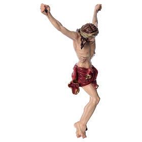 Corpo di Cristo con drappo rosso legno dipinto s3