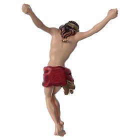 Corpo di Cristo con drappo rosso legno dipinto s4