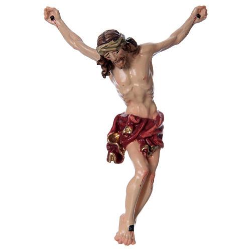 Corpo di Cristo con drappo rosso legno dipinto 1