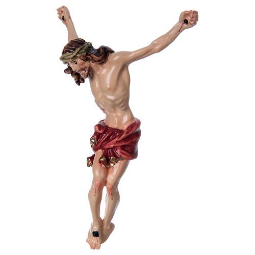 Corpo di Cristo con drappo rosso legno dipinto 2