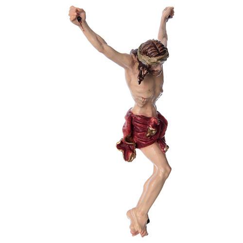 Corpo di Cristo con drappo rosso legno dipinto 3
