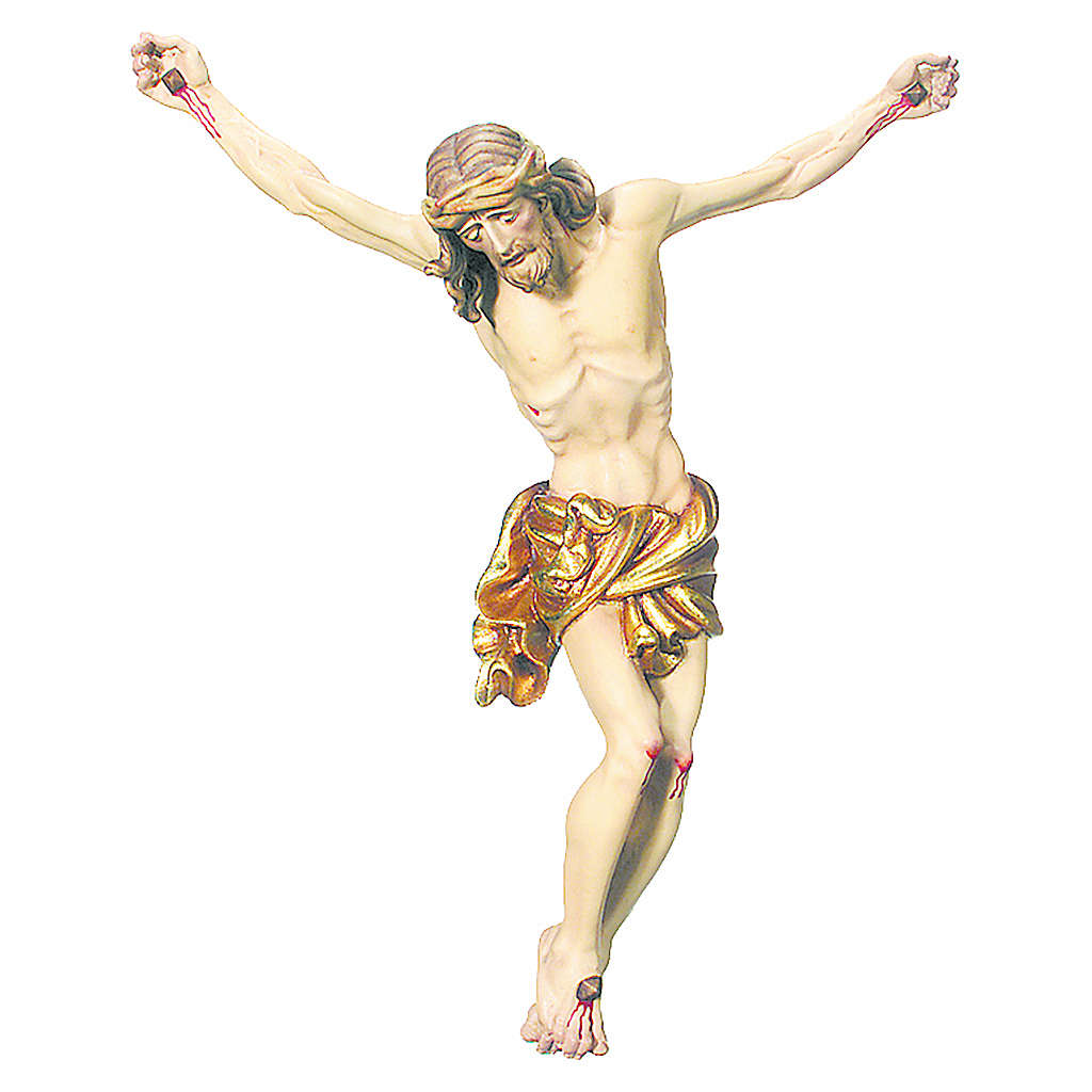 Corpo di Cristo drappo oro in foglia legno dipinto 4