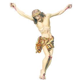 Corpo di Cristo drappo oro in foglia legno dipinto s1