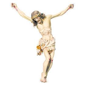 Corpo di Cristo legno dipinto drappo bianco e dorato s1
