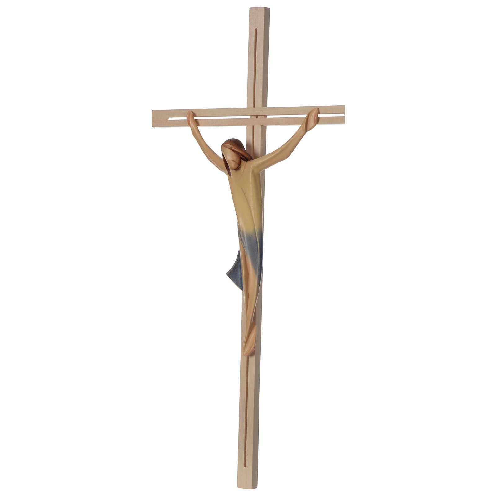 Corpo Cristo moderno legno acero croce legno frassino 4