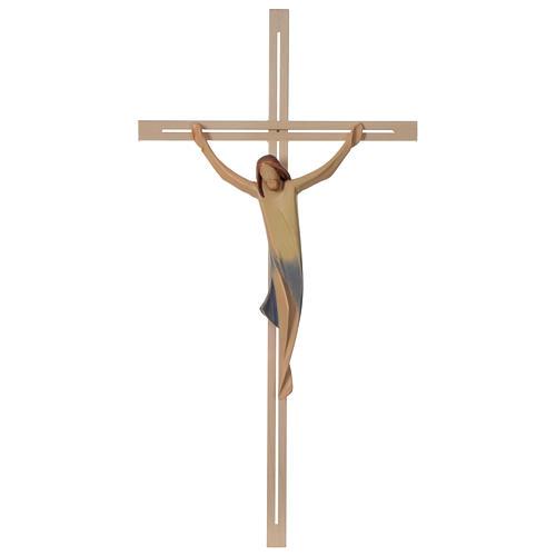 Corpo Cristo moderno legno acero croce legno frassino 1