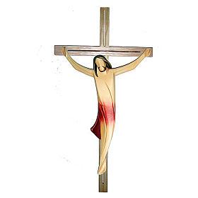 Corpo di Cristo moderno drappo rosso croce legno frassino s1