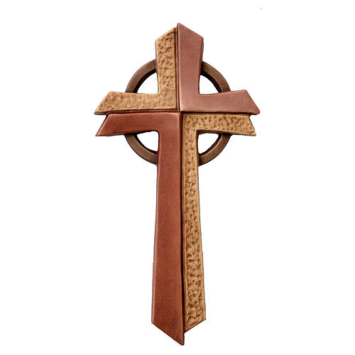 Croce Betlehem in legno d'acero diverse gradazioni marrone 1