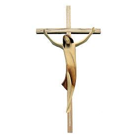Corpo Cristo moderno legno acero su croce legno frassino s1