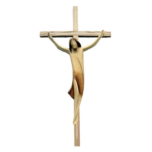 Corpo Cristo moderno legno acero su croce legno frassino 1