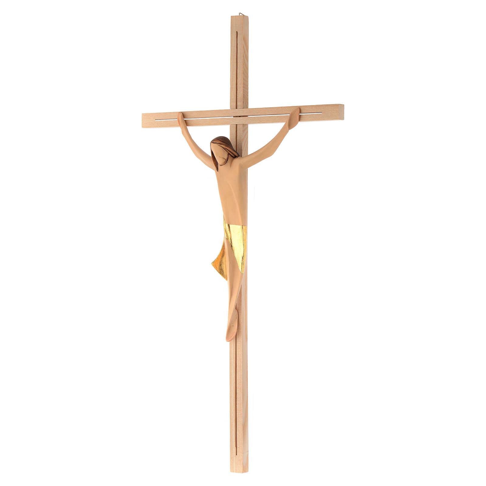 Corpo di Cristo moderno drappo dorato croce legno frassino 4