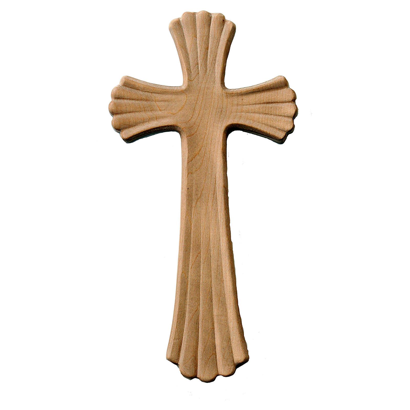 Croix Bethléem couleur bois érable naturel patiné 4
