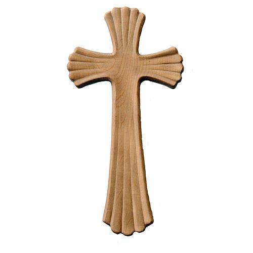 Croix Bethléem couleur bois érable naturel patiné 1