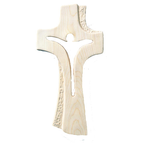 Cross Bethlehem in natural maple wood 1