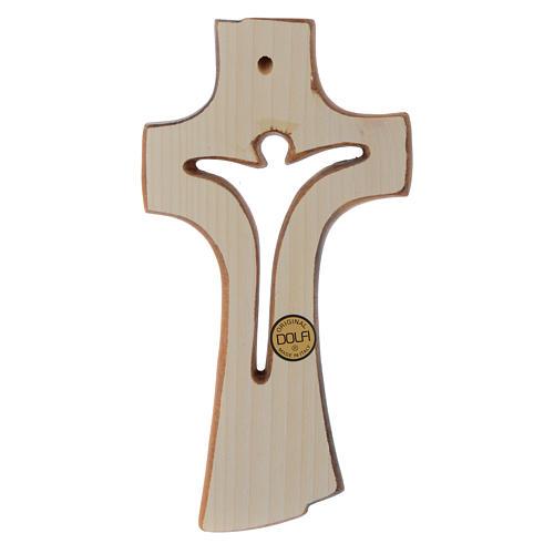 Croix Bethléem en bois érable patiné clair 2