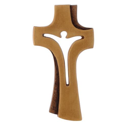 Croce Betlehem in legno acero patinato chiaro 1