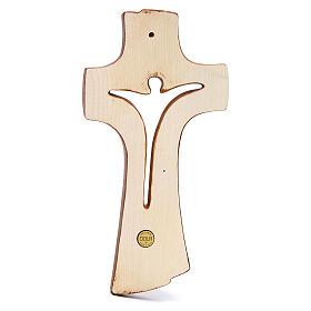 Croce Betlehem legno acero vari colori marrone s3