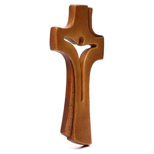 Croce Betlehem legno acero vari colori marrone 2