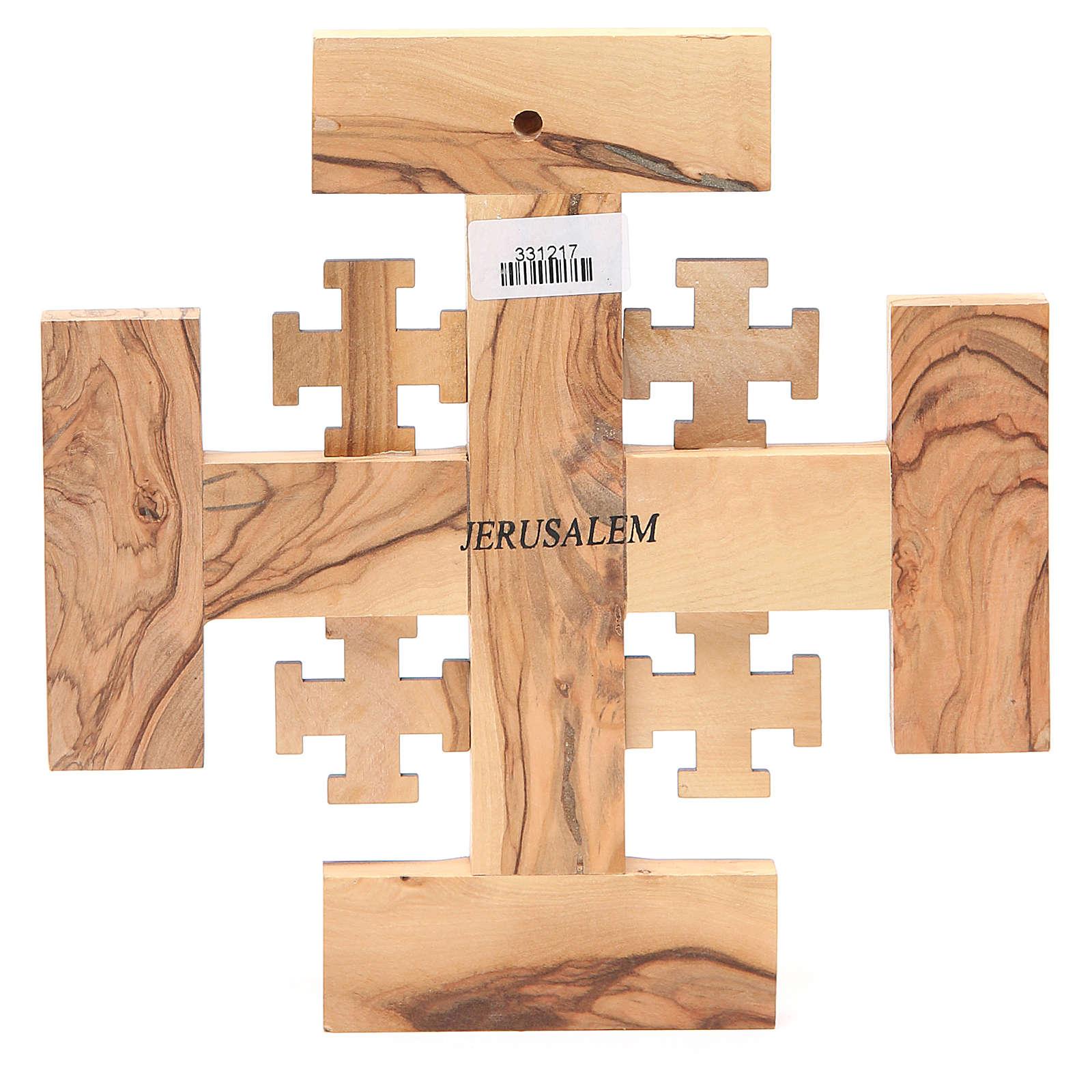 Croix Jérusalem olivier de la Terre Sainte G.B.O.H. 19 cm 4