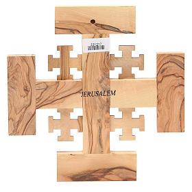 Croix Jérusalem olivier de la Terre Sainte G.B.O.H. 19 cm s2