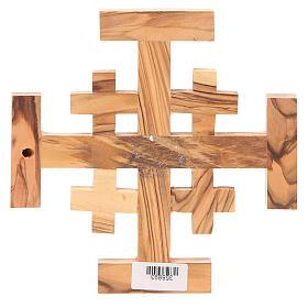 Croce Jerusalem legno ulivo Terrasanta 15 cm s2