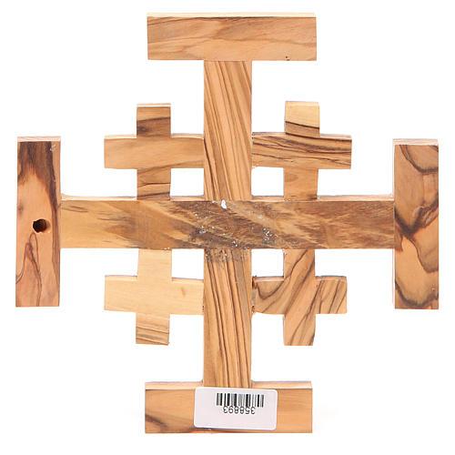 Croce Jerusalem legno ulivo Terrasanta 15 cm 2