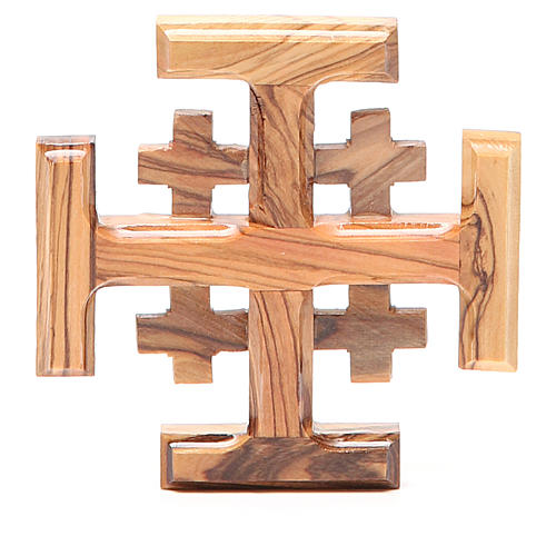 Croce Jerusalem legno d'olivo della Terrasanta 8 cm 1