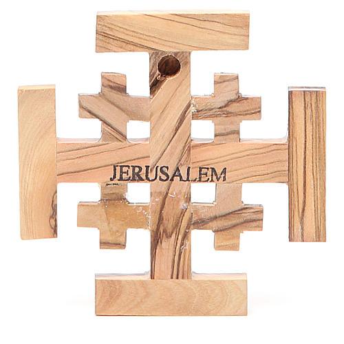 Croce Jerusalem legno d'olivo della Terrasanta 8 cm 2