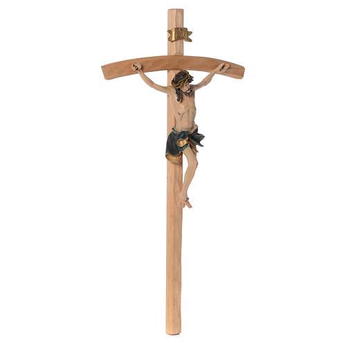 Crucifijo 75 cm resina y madera 3