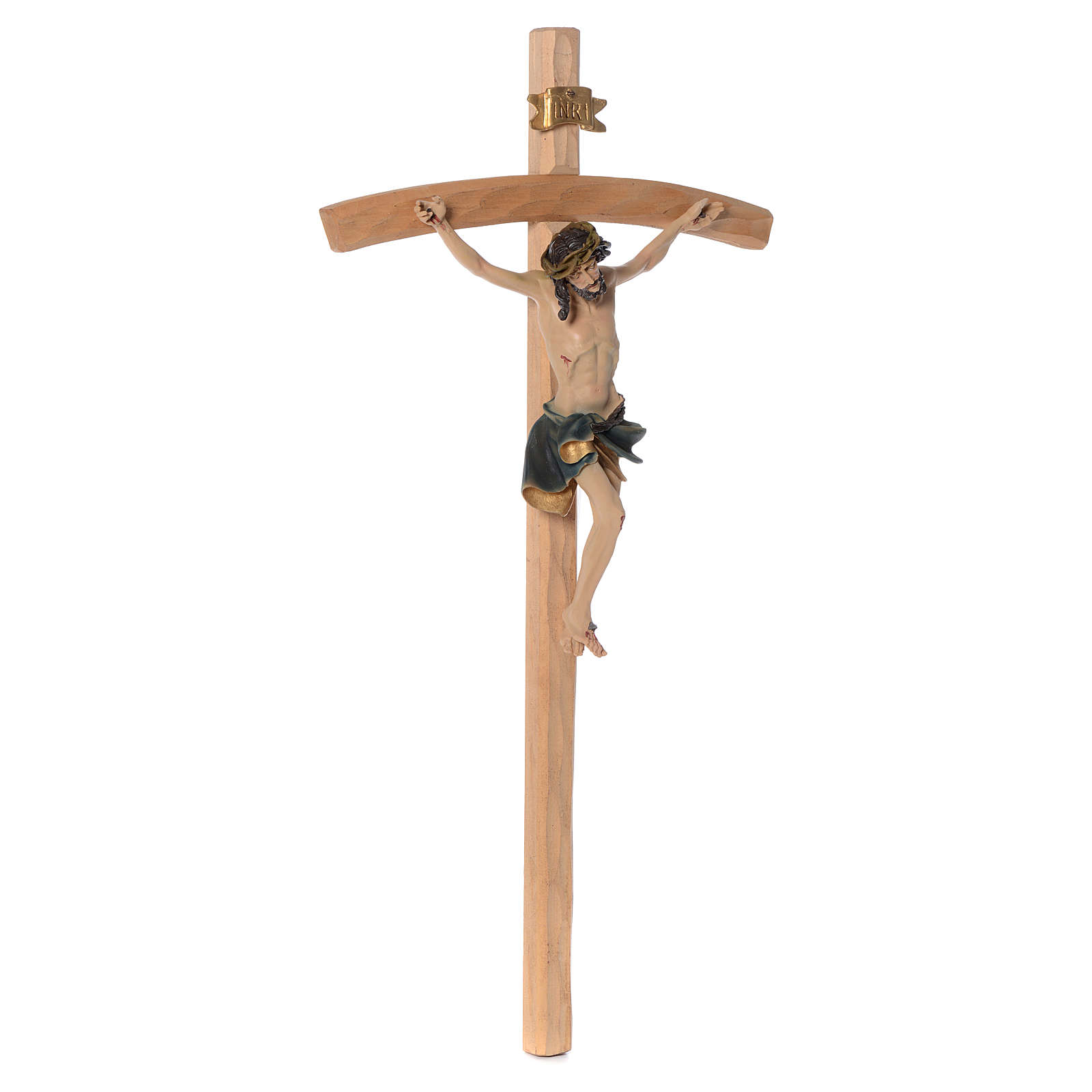Crucifix 75 cm en résine et bois 4