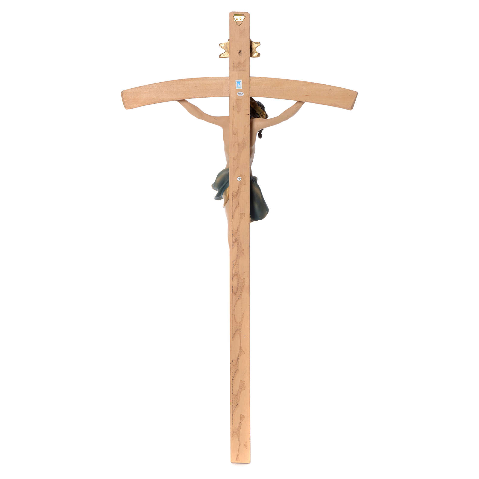 Crucifix measuring 75cm in resin and wood 4