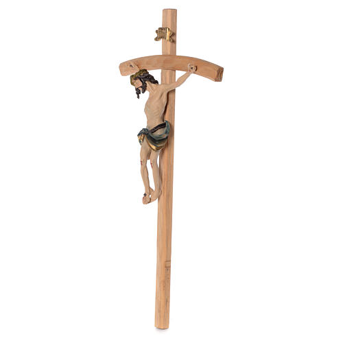 Crucifix measuring 75cm in resin and wood 2