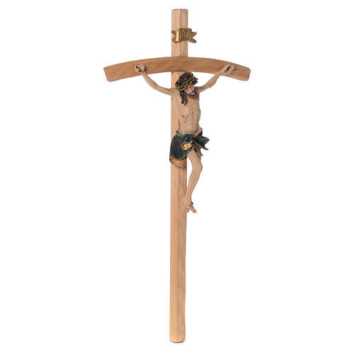 Crucifix measuring 75cm in resin and wood 3