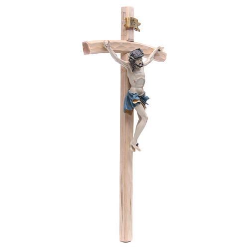 Crucifijo 55 cm resina y madera 3