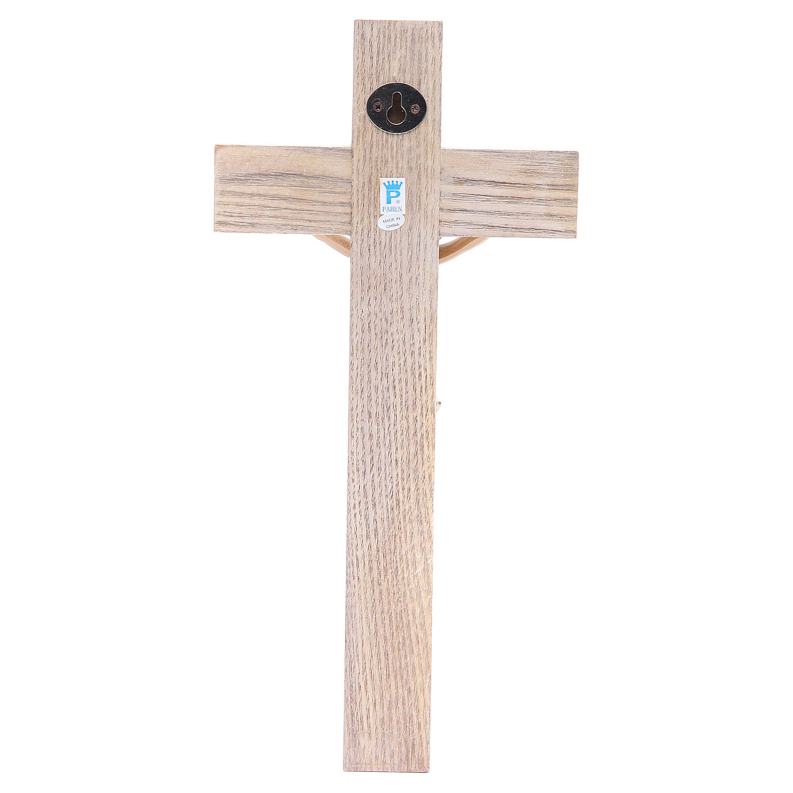 Crucifix measuring 30cm in resin with cross wood 4
