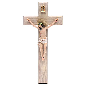 Crucifix measuring 30cm in resin with cross wood s1