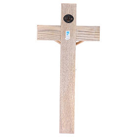 Crucifix measuring 30cm in resin with cross wood s4