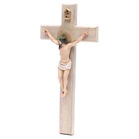 Crocefisso 30 cm resina e croce legno s2