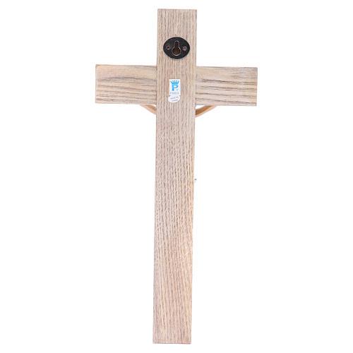 Krucyfiks 30cm żywica i drewno 4