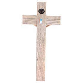 Crucifixo 30 cm resina e cruz madeira s4