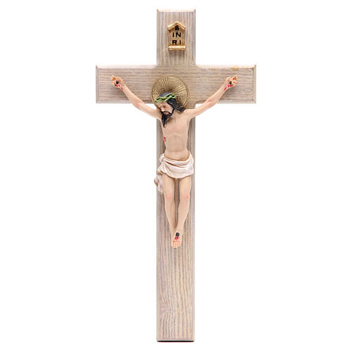 Crucifix measuring 30cm in resin with cross wood 1