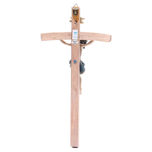 Crucifix measuring 25cm in resin with cross wood 2