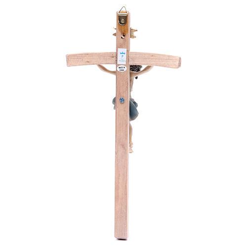 Crucifijo 25 cm resina y madera 2
