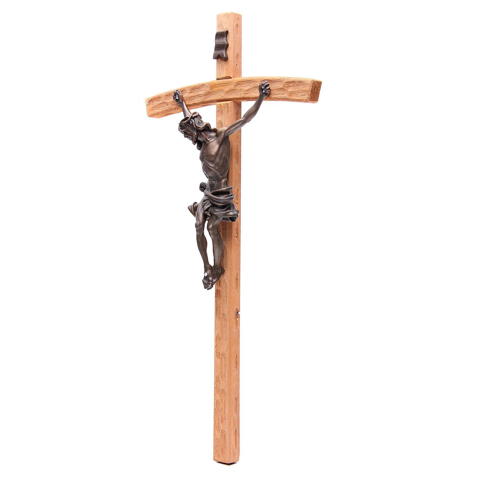 Crocefisso 55 cm legno e resina effetto bronzo 4