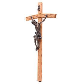 Crocefisso 55 cm legno e resina effetto bronzo s2