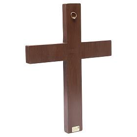 Crocifisso in croce legno rilievo dipinto 45 cm s3
