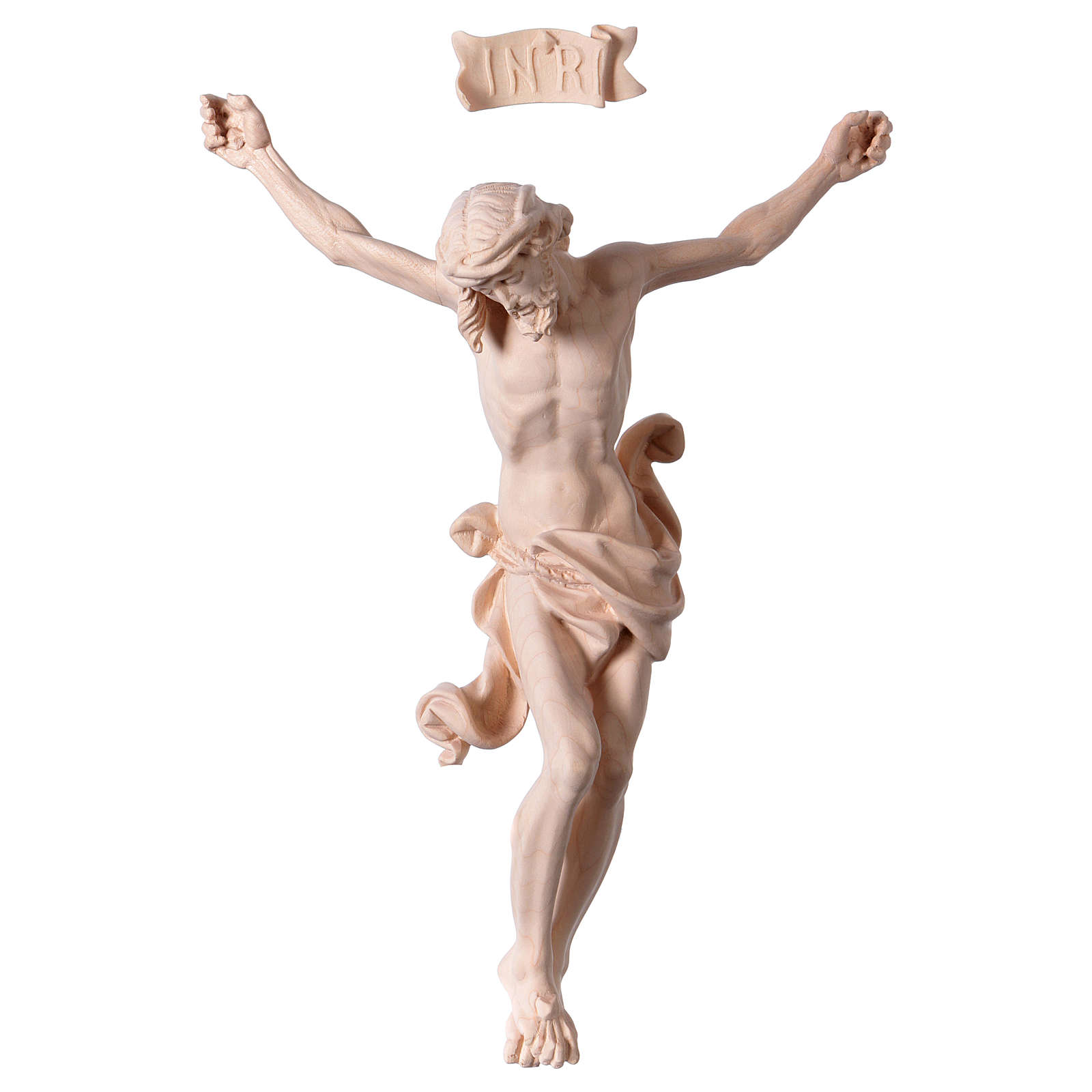 Christ's body Leonardo in natural wood 4